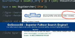 GogoooSE - Fulltext Search Engine!